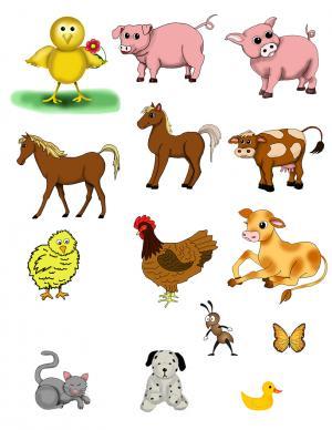 Preschool printable animal clipart.