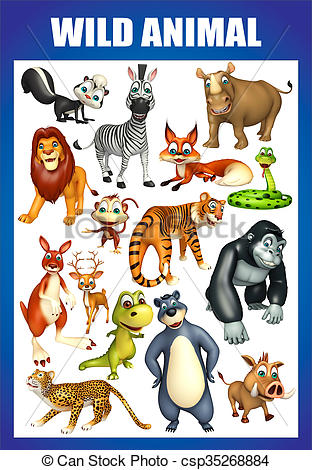 wild animal chart.