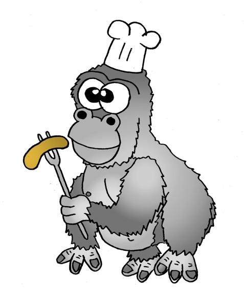 Gorilla Animal Clipart.