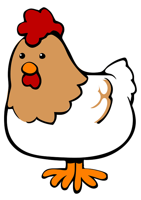 Cartoon Hen clipart. Free download..