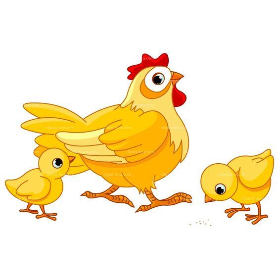 Clipart Chicken Farm Royalty Free Vector Design.