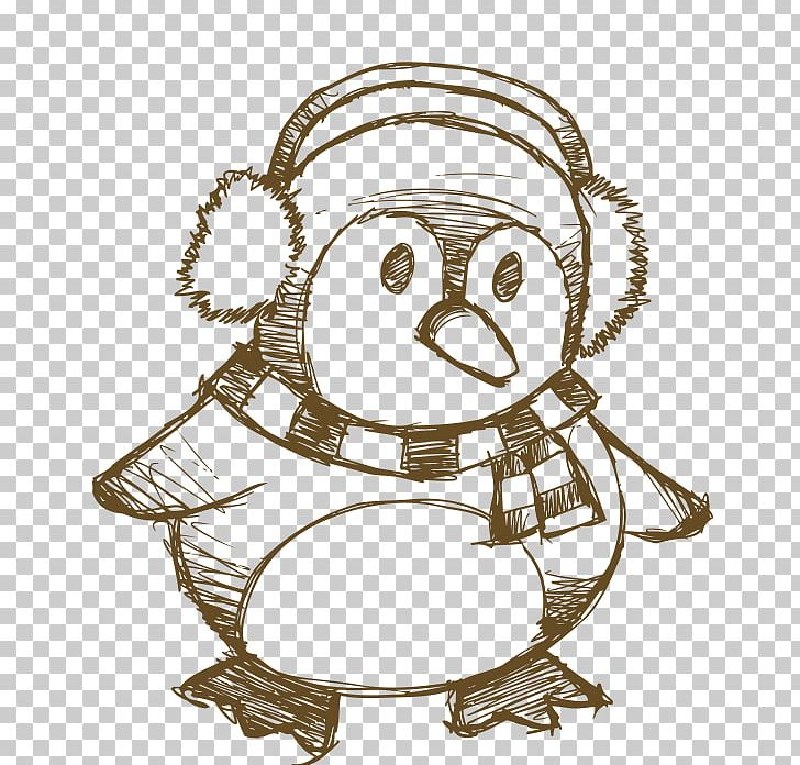 Penguin Reindeer Christmas Drawing PNG, Clipart, Animals.