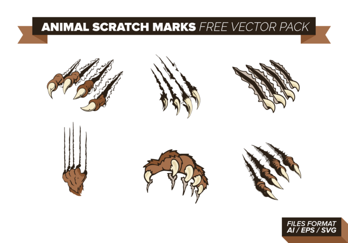 Animal Scratch Marks Vector Pack.