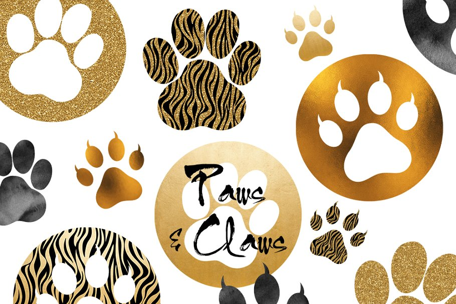 Paws & Claws Clipart Set ~ Illustrations ~ Creative Market.