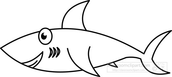 Shark black and white animals clipart shark black white outline.
