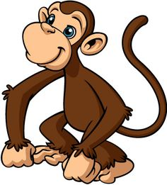 Monkey animal clipart.