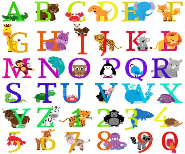 8+ Animal Alphabet Letters.