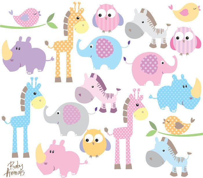 Baby Animals Clipart.