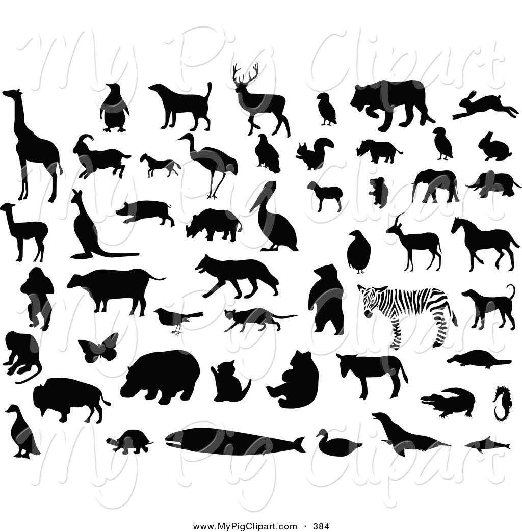 Animals Clipart Black.