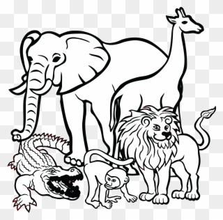 Free PNG Animal Black And White Clip Art Download.