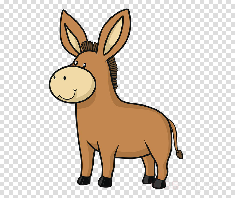 burro cartoon clip art animal figure snout clipart.