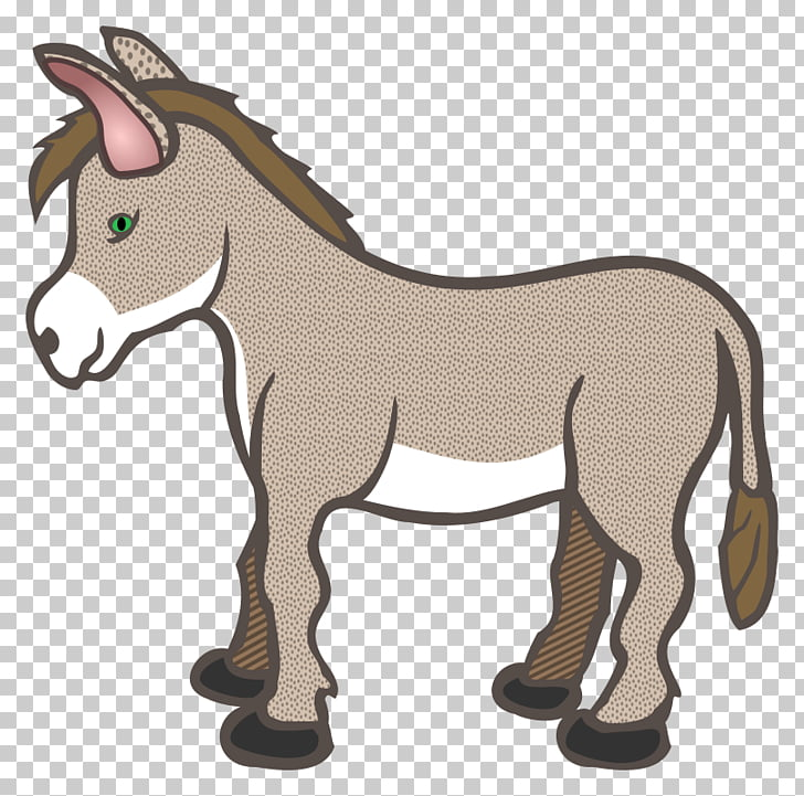 Donkey , drawing animals illustration PNG clipart.