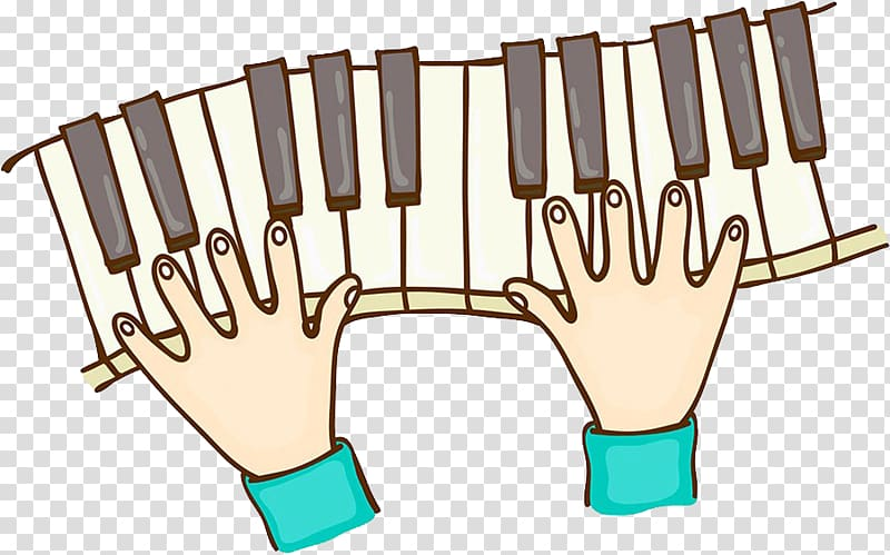 Piano Pianist Music Action Illustration, Hand.
