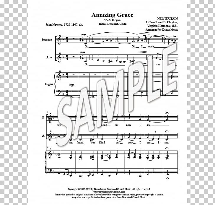 Church Music Sheet Music Descant Hymn PNG, Clipart, Amazing.