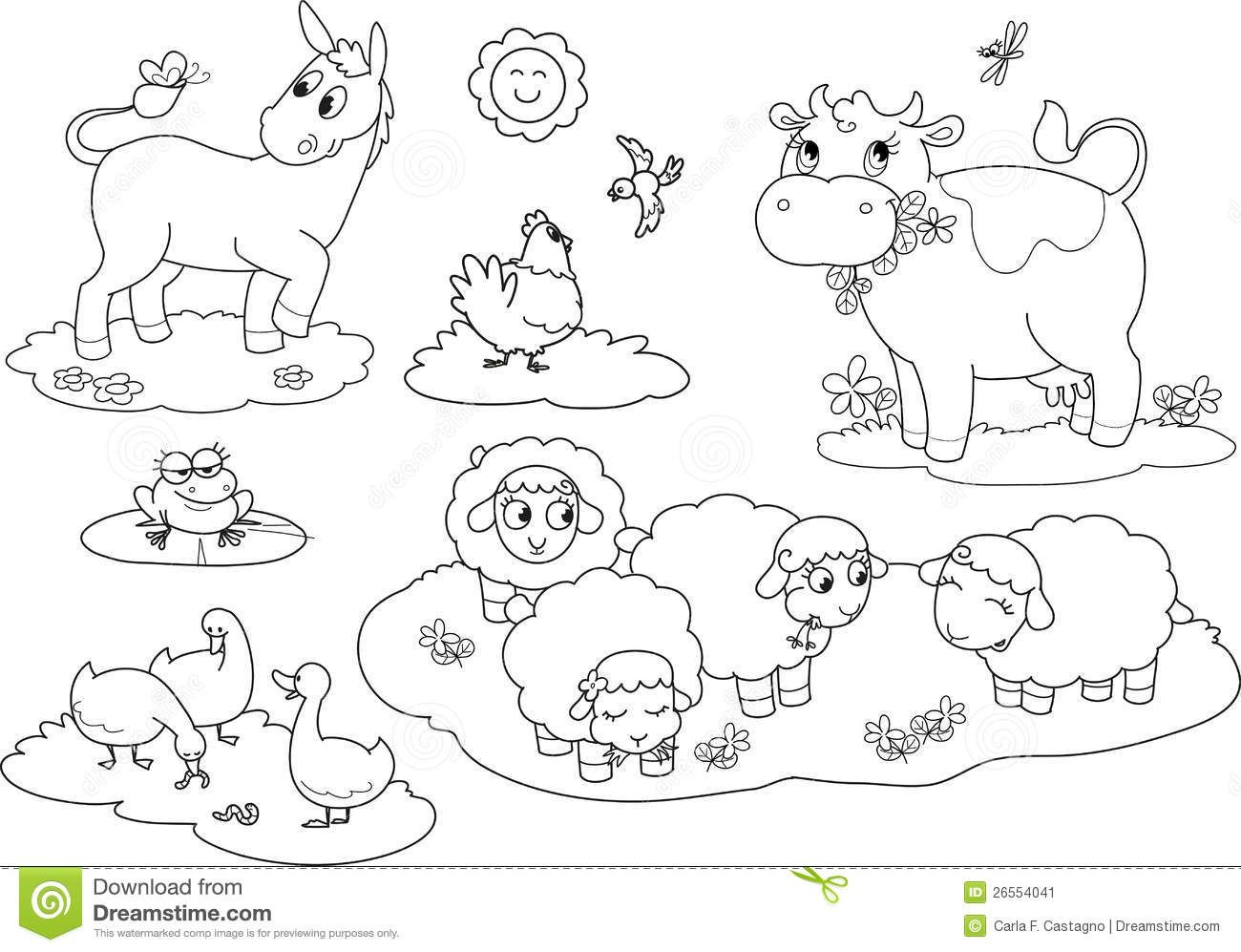 Farm Animals Pictures To Color.