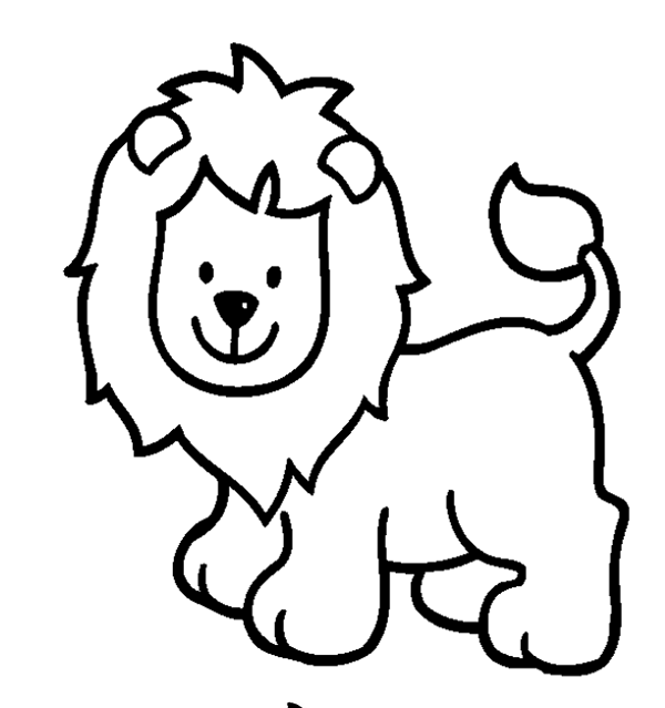 Animals Clipart Coloring.