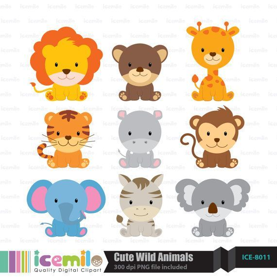 Free download Cute Wild Animal Clipart for your creation.