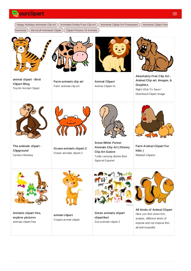 Animal clipart ourclipart.