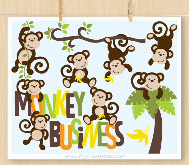 Monkey Business Clipart.