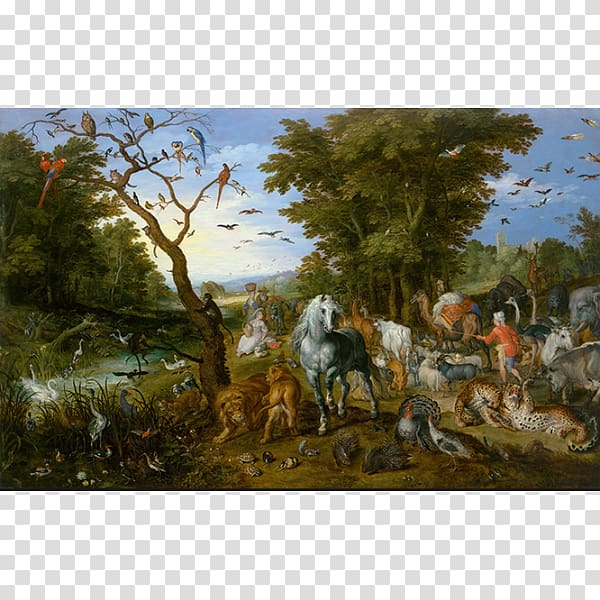 The Entry of the Animals into Noah\'s Ark Getty Center.