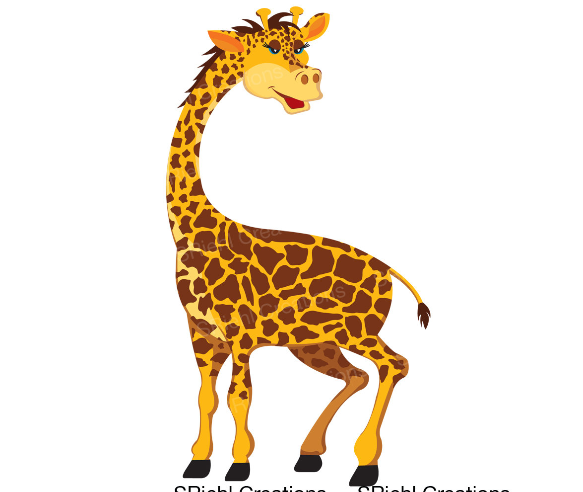 Giraffe Jungle Animals Clipart.