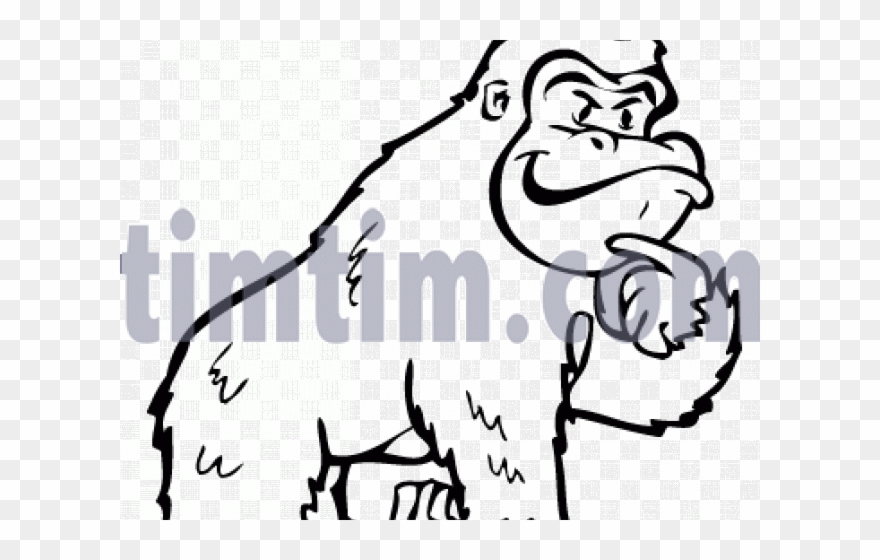 Drawn Gorilla Wild Animal Clipart (#2551261).