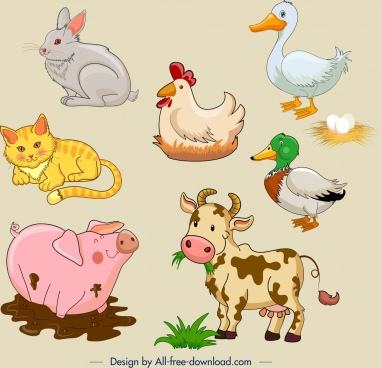 Farm animal icons free vector download (33,783 Free vector.
