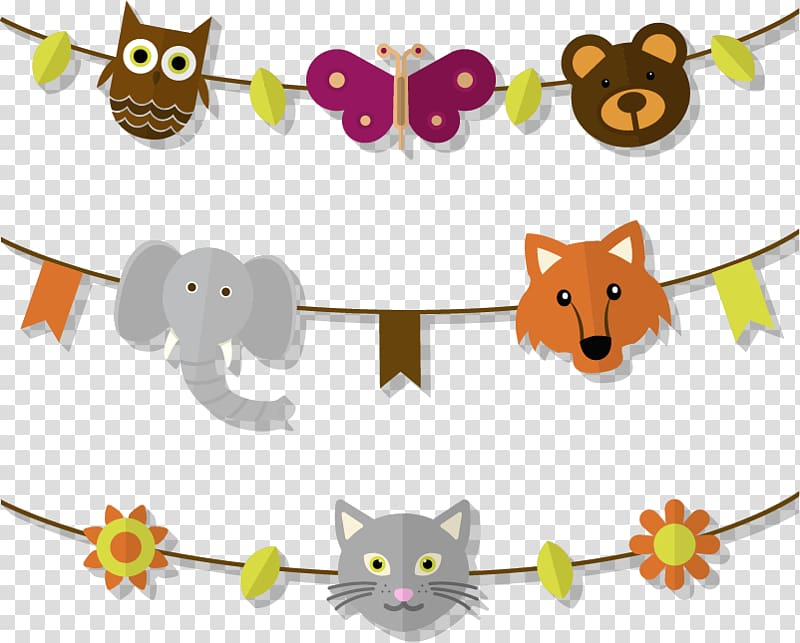 Icon, flag pull animal heads transparent background PNG.