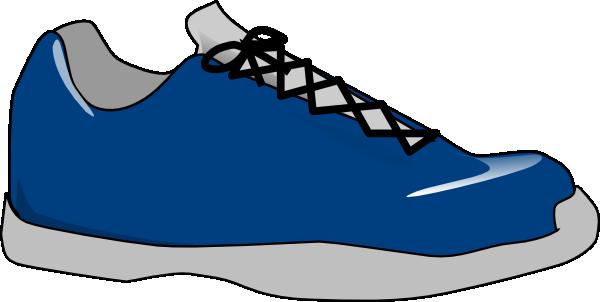 Free clip art tennis shoe clipart image.