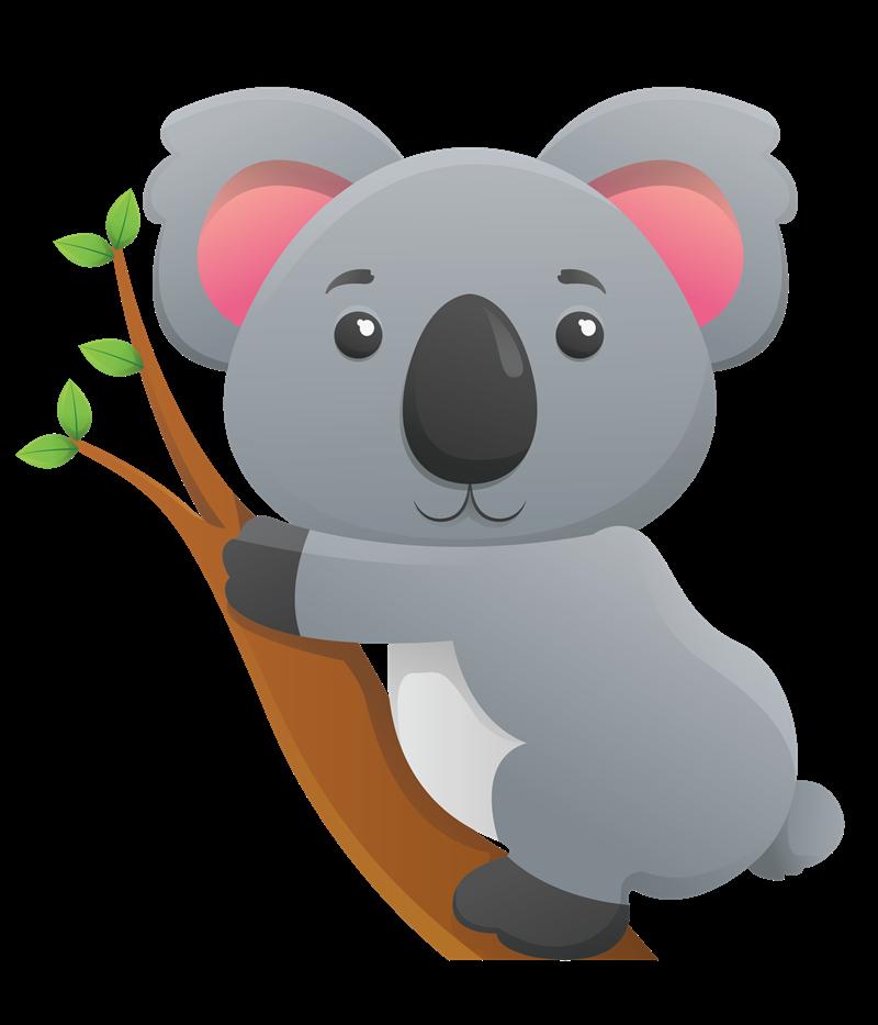 1514 Koala free clipart.