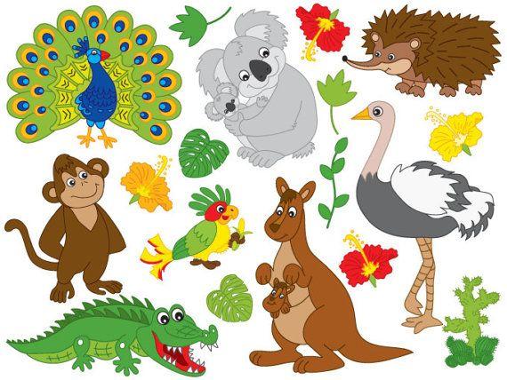 Australian Animals Clipart.