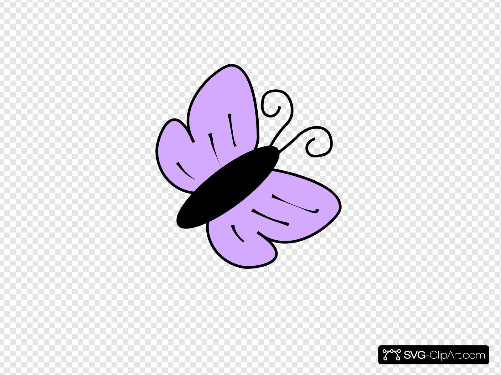 Mariposa Violeta Clip art, Icon and SVG.