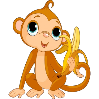 Monkeys Cartoon Clip Art.