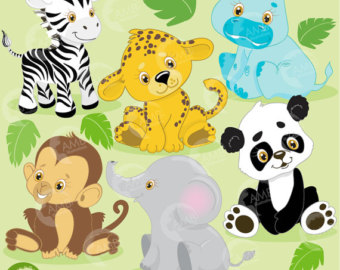 Jungle Animal Clipart , Safari Clip art, Jungle Clip art, Jungle.