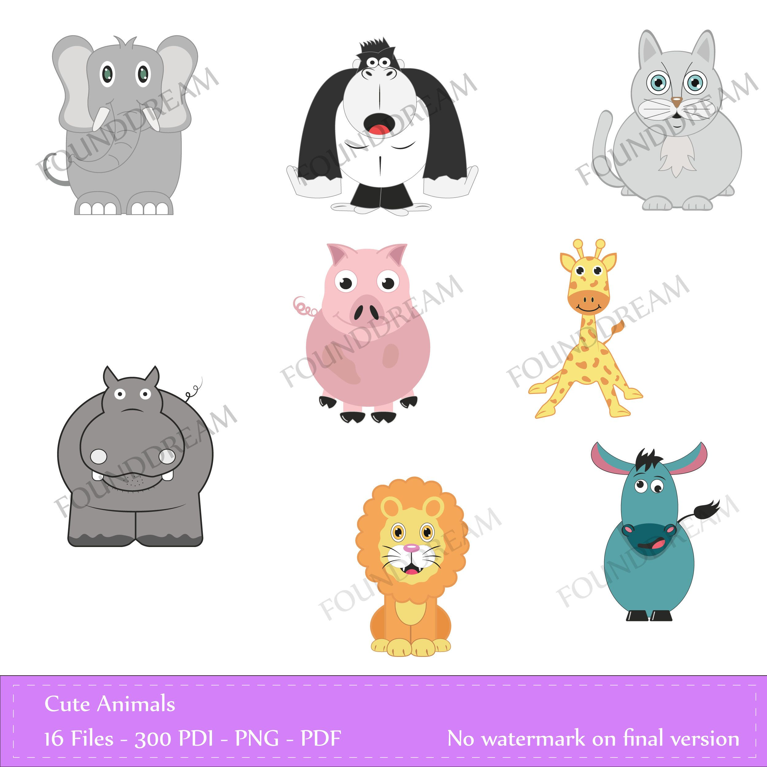 70% OFF, Animal clipart , Cute Animals, Snake Clipart.
