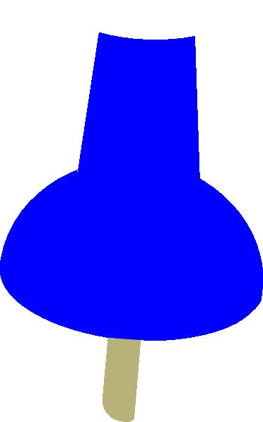 Blue push pin clip art at vector clip art.