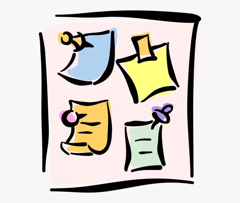 Vector Illustration Of Push Pins Or Thumb Tacks Fasten.