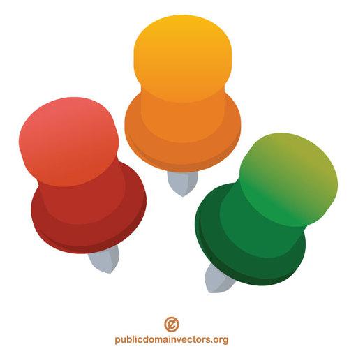 Colorful push pins.