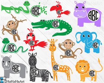 Monogram Safari Animals.