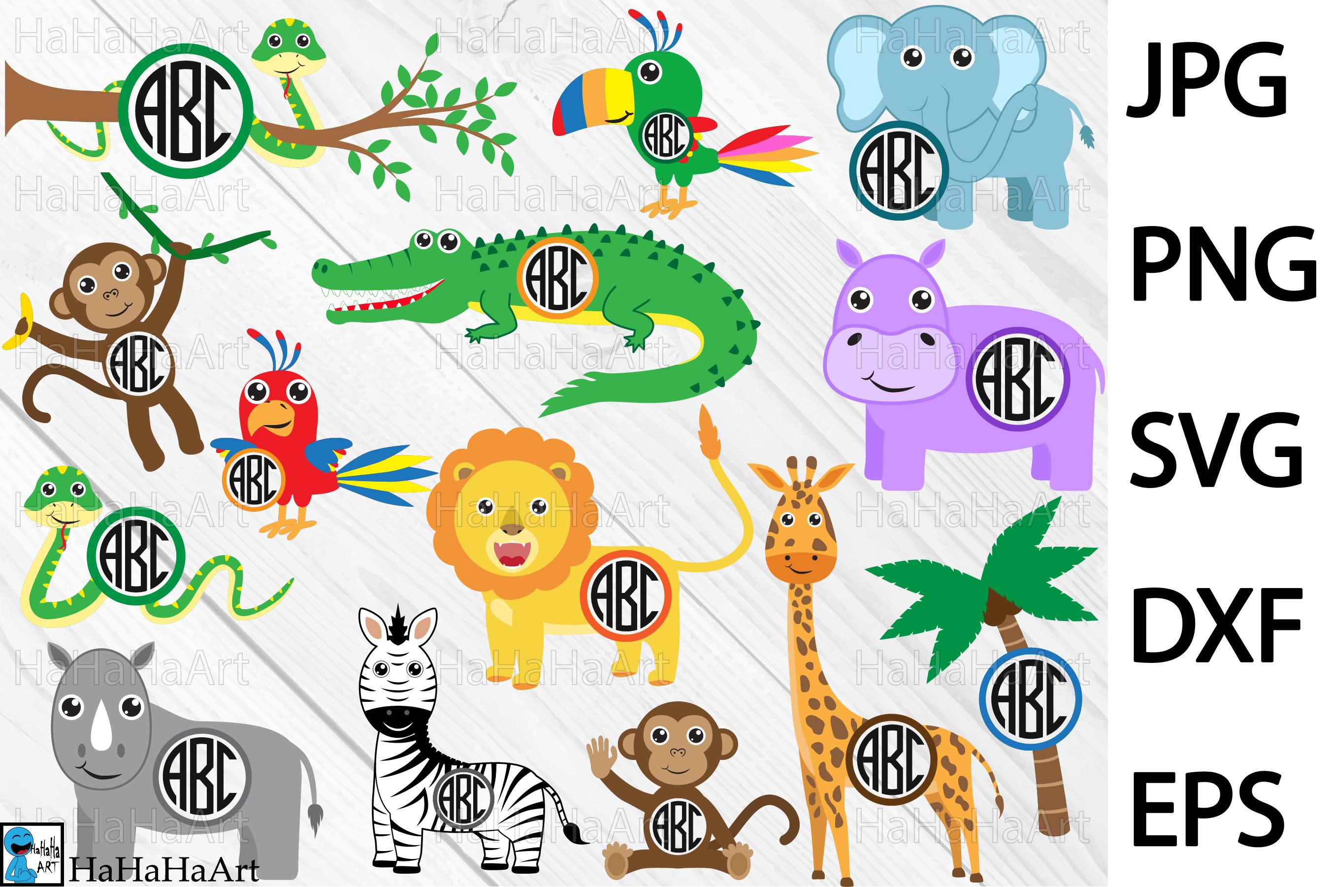 Circle Safari Animals.