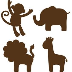 Baby Animal Clipart Silhouette.