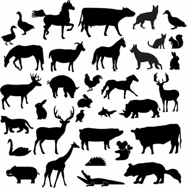 Animal silhouette clip art free vector download (222,104.