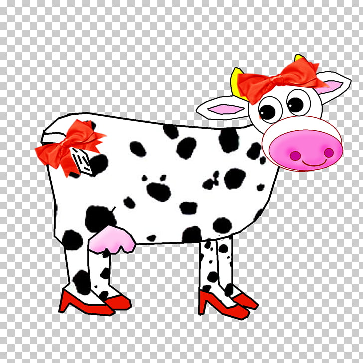 Dairy cattle Dalmatian dog , vaca PNG clipart.