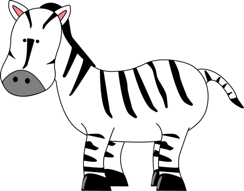 Baby Zebra Clipart Transparent Background.