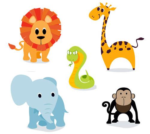 Free Safari Animal Clipart.