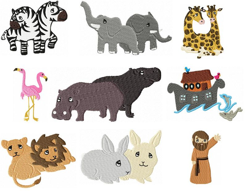 Noah\'s Ark Animal Clip Art.