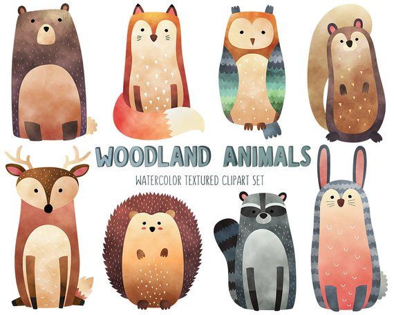 Watercolor animals clipart 7 » Clipart Station.