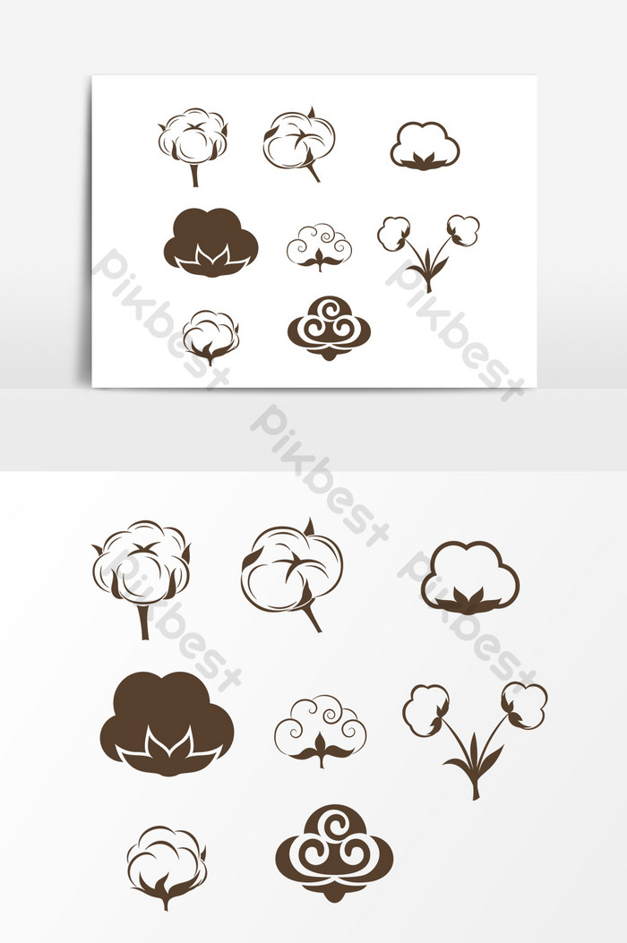 Hand drawn cloud shape decorative pattern element.