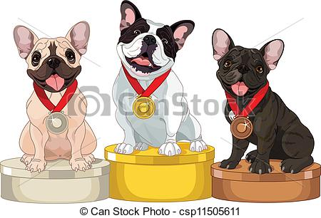 Vector Clip Art of Winners of Dog competition.