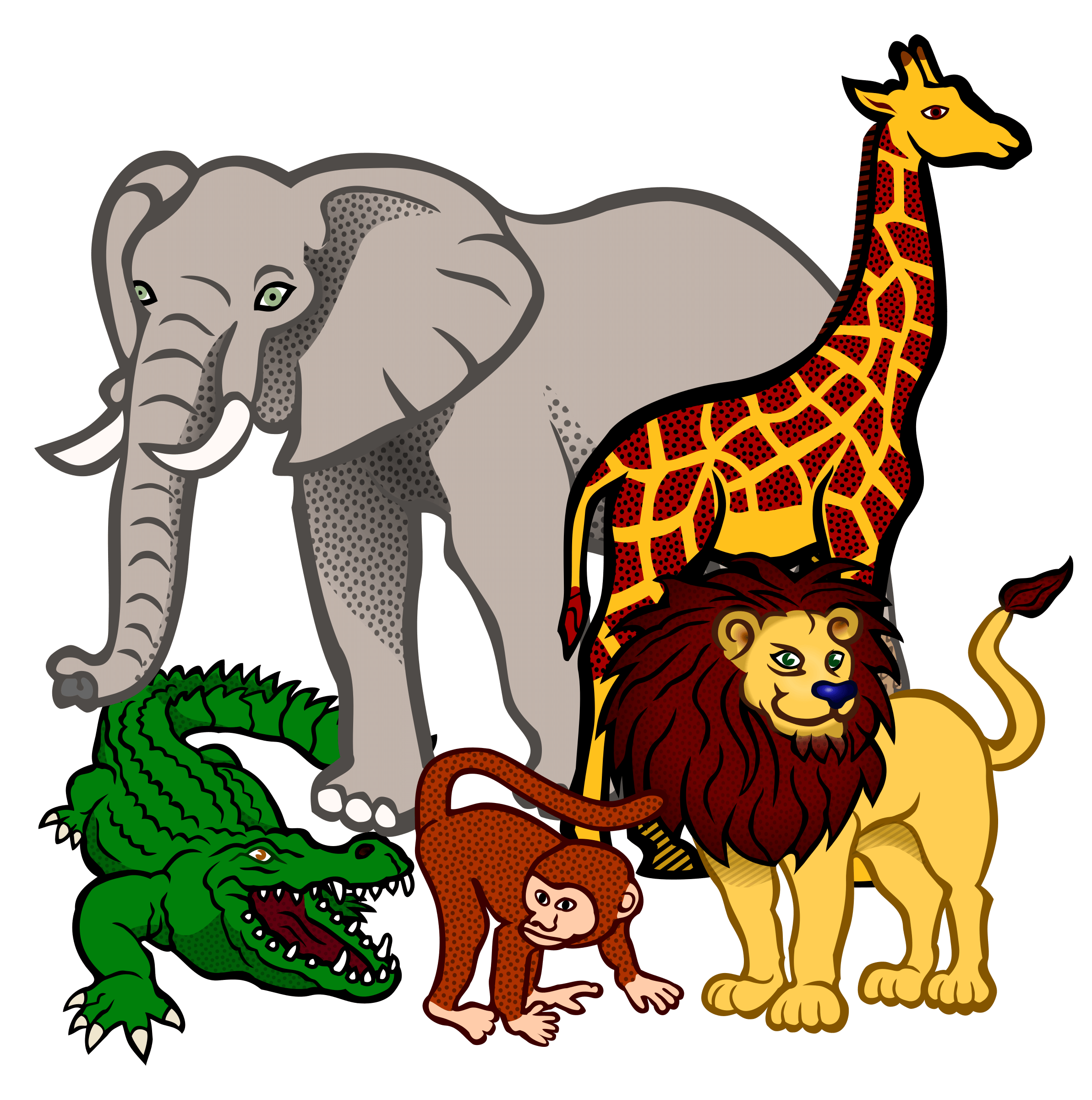 African wildlife clipart.